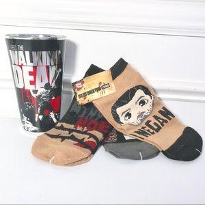 Walking Dead Ankle Socks 3pr Pint Glass